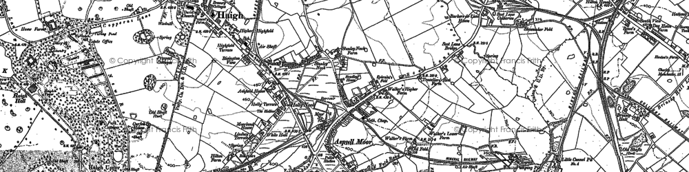 Old map of Aspull in 1892