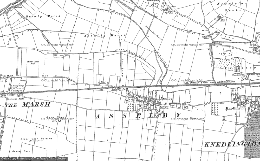 Old Map of Asselby, 1889 in 1889