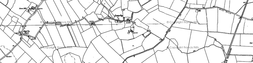 Old map of Asserby in 1887