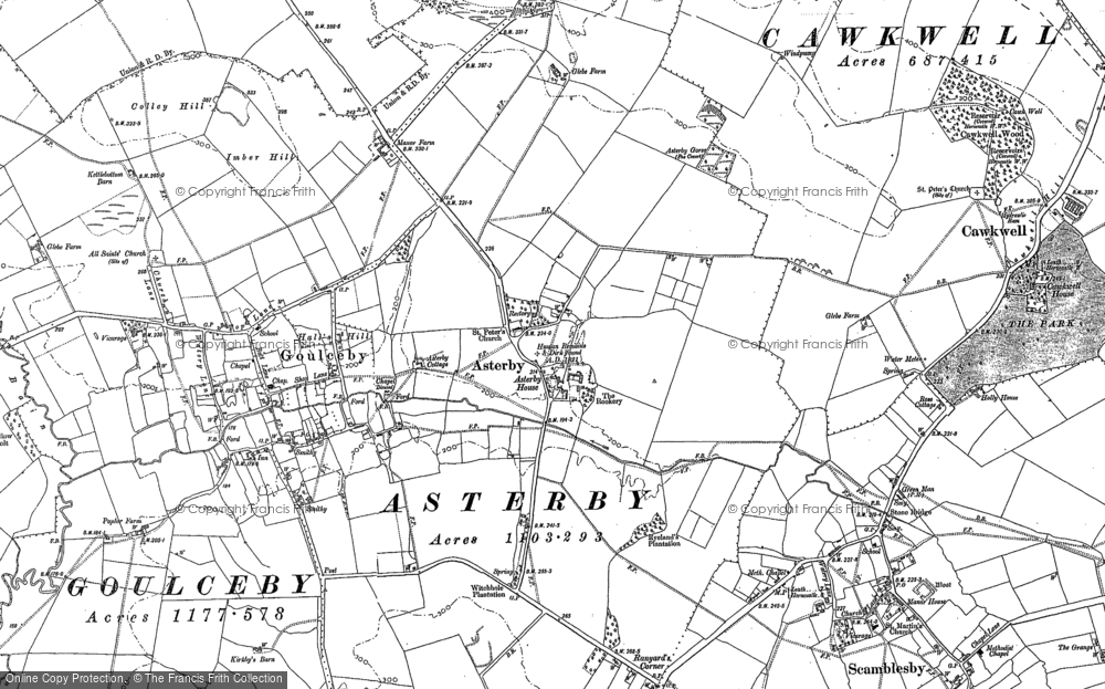 Old Map of Asterby, 1887 in 1887