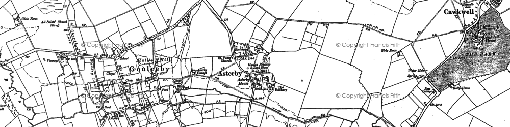 Old map of Asterby in 1887
