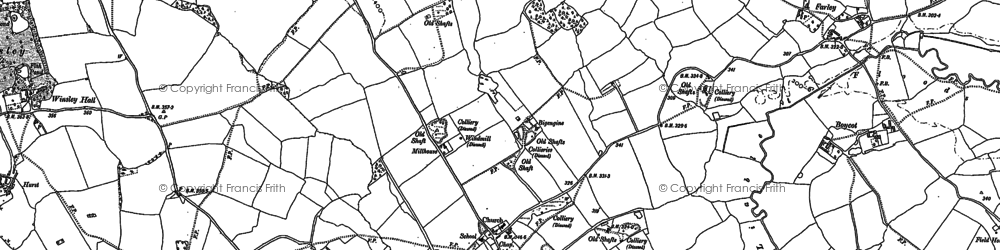 Old map of Asterley in 1881