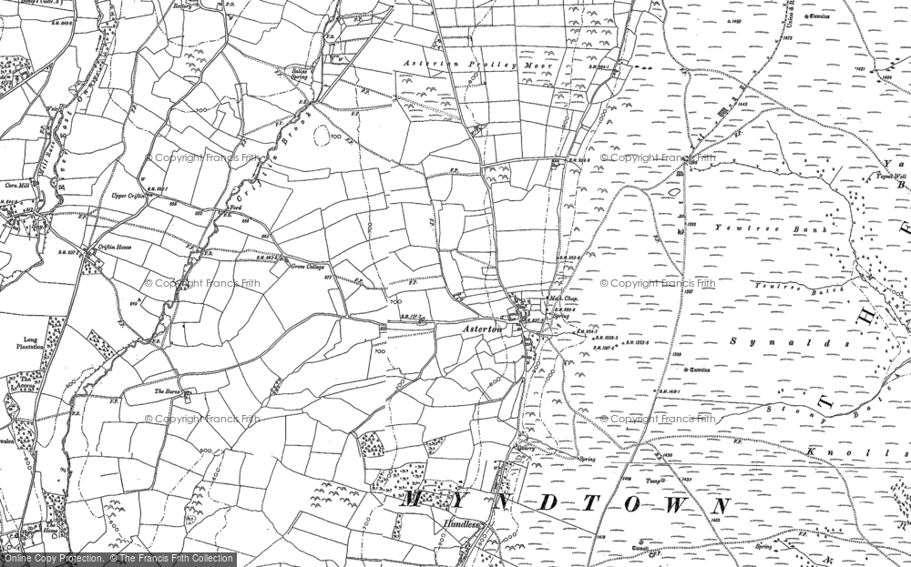 Old Map of Asterton, 1882 - 1883 in 1882