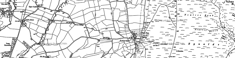 Old map of Asterton in 1882