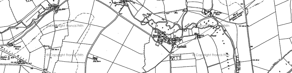 Old map of Asthall in 1898