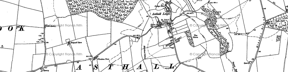 Old map of Asthall Leigh in 1898