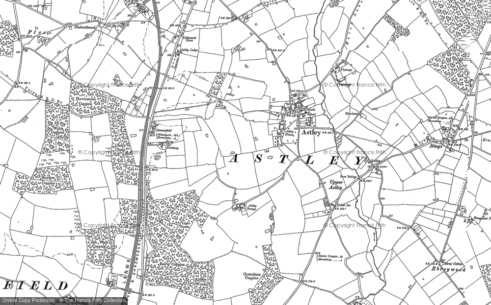 Old Map of Historic Map covering Wheatley in 1880