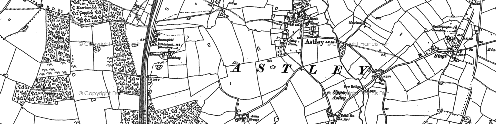 Old map of Astley in 1880