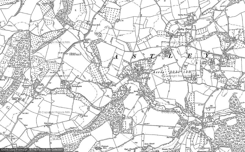 Old Map of Astley, 1883 in 1883