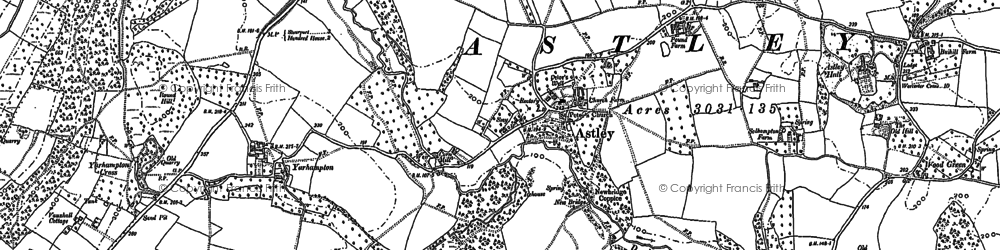 Old map of Astley Burf in 1883
