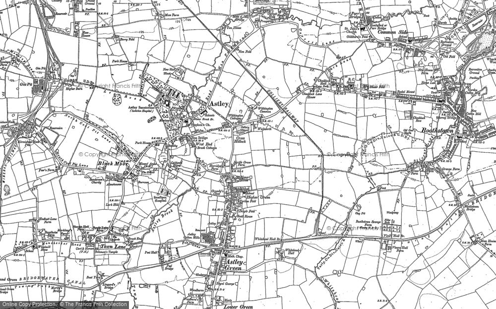 Old Map of Historic Map covering Lark Hill in 1891