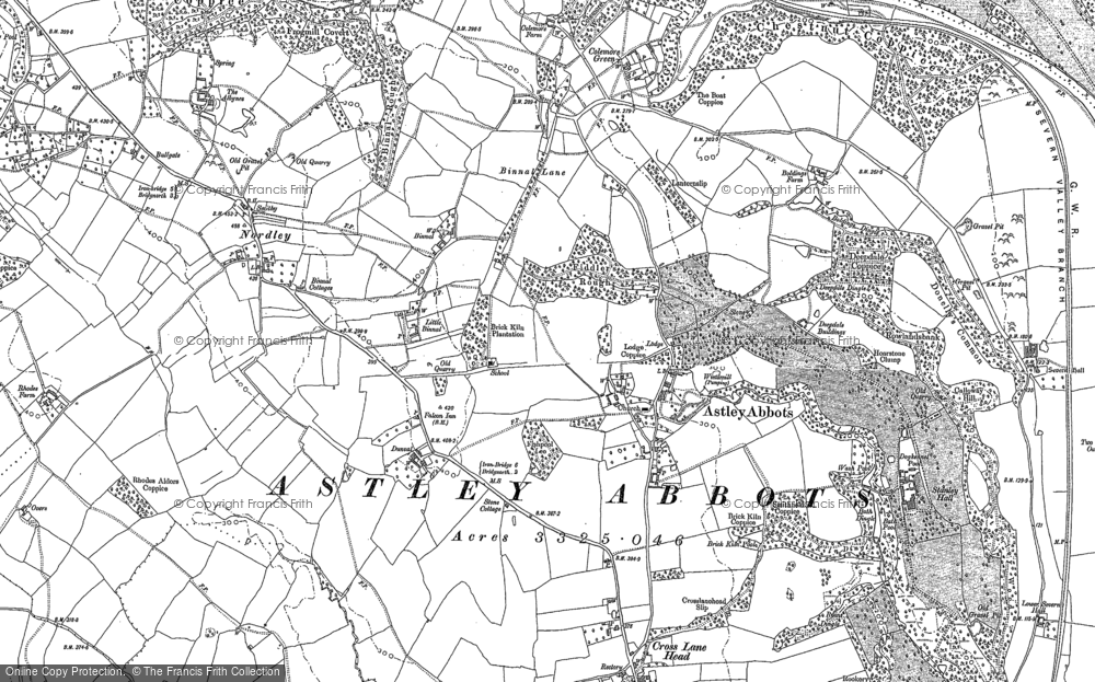 Old Map of Astley Abbotts, 1882 in 1882