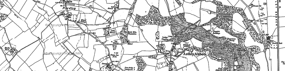 Old map of Astley Abbotts in 1882