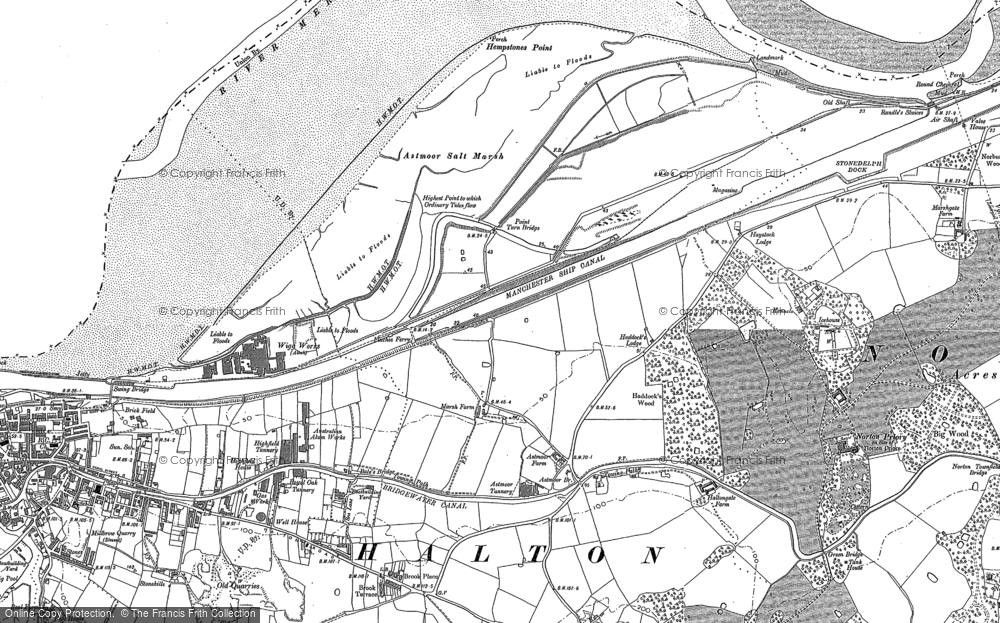 Old Map of Astmoor, 1897 - 1908 in 1897