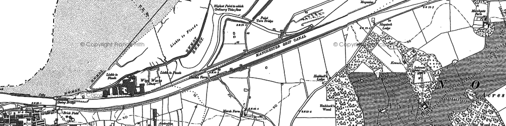 Old map of Astmoor in 1897