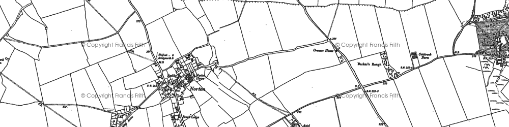 Old map of Astol in 1882