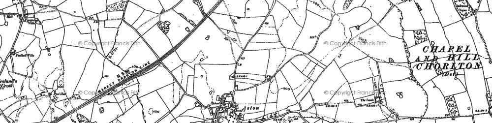 Old map of Aston Cliff in 1879