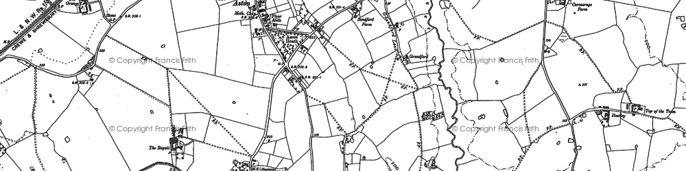 Old map of Aston in 1879