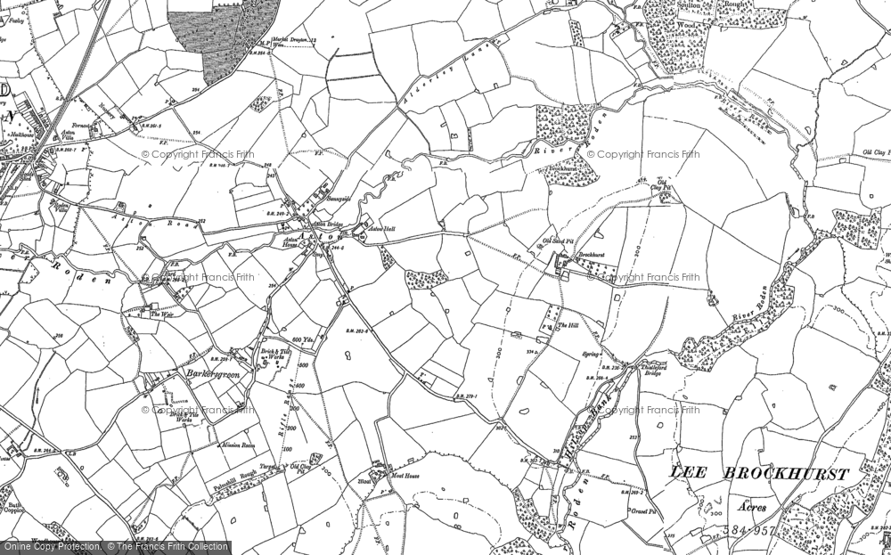 Old Map of Aston, 1880 in 1880