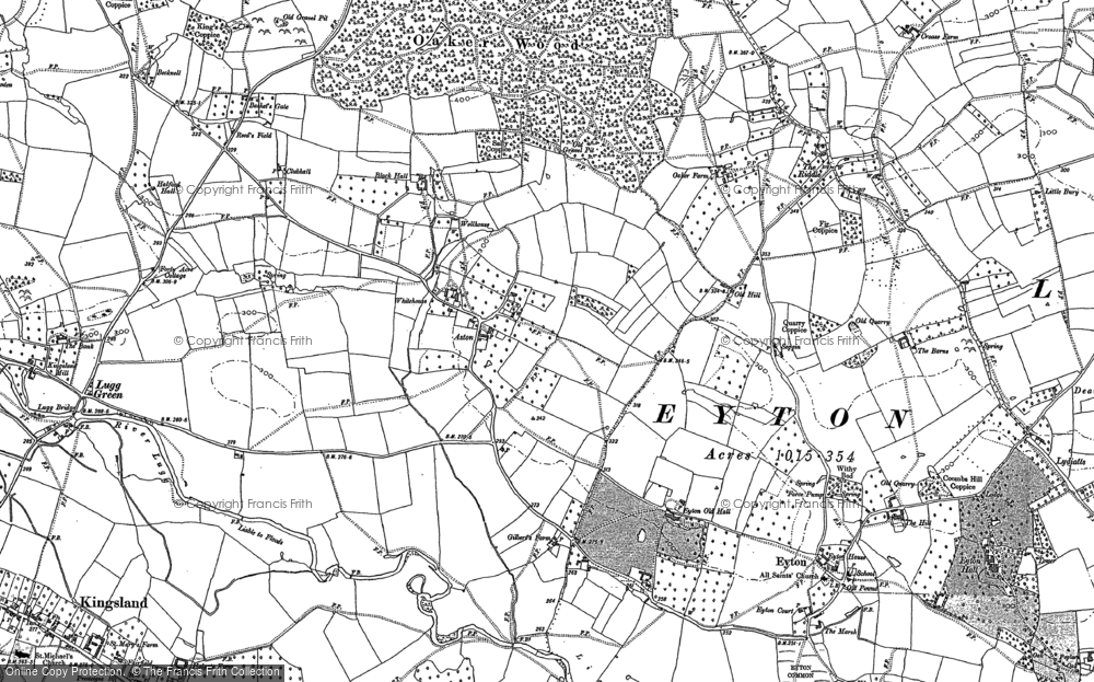 Old Map of Aston, 1885 in 1885