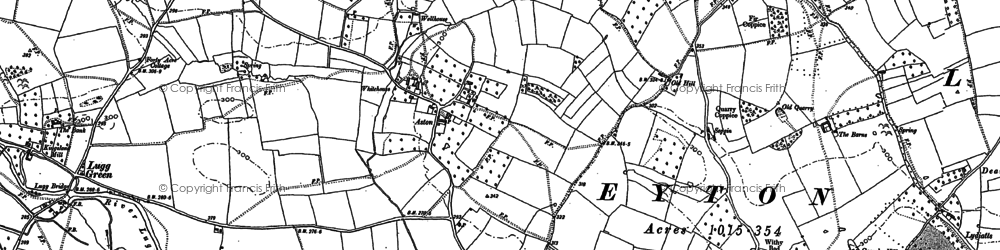 Old map of Aston in 1885