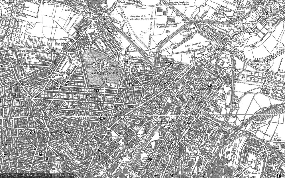 Old Map of Aston, 1888 - 1903 in 1888