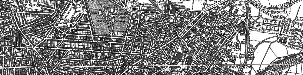 Old map of Aston in 1888