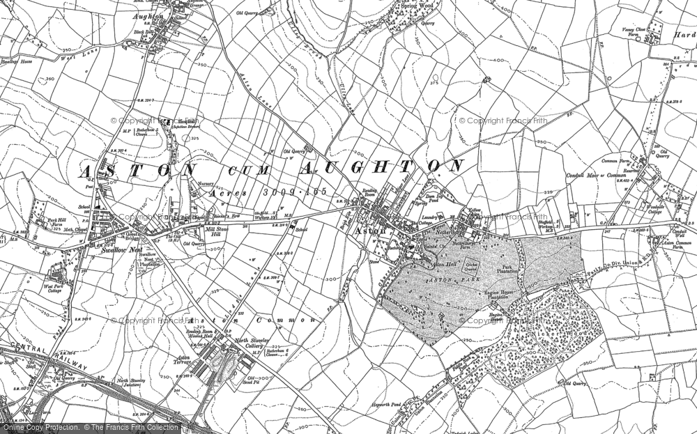 Old Map of Aston, 1890 in 1890