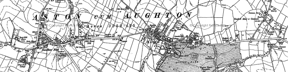 Old map of Aston in 1890