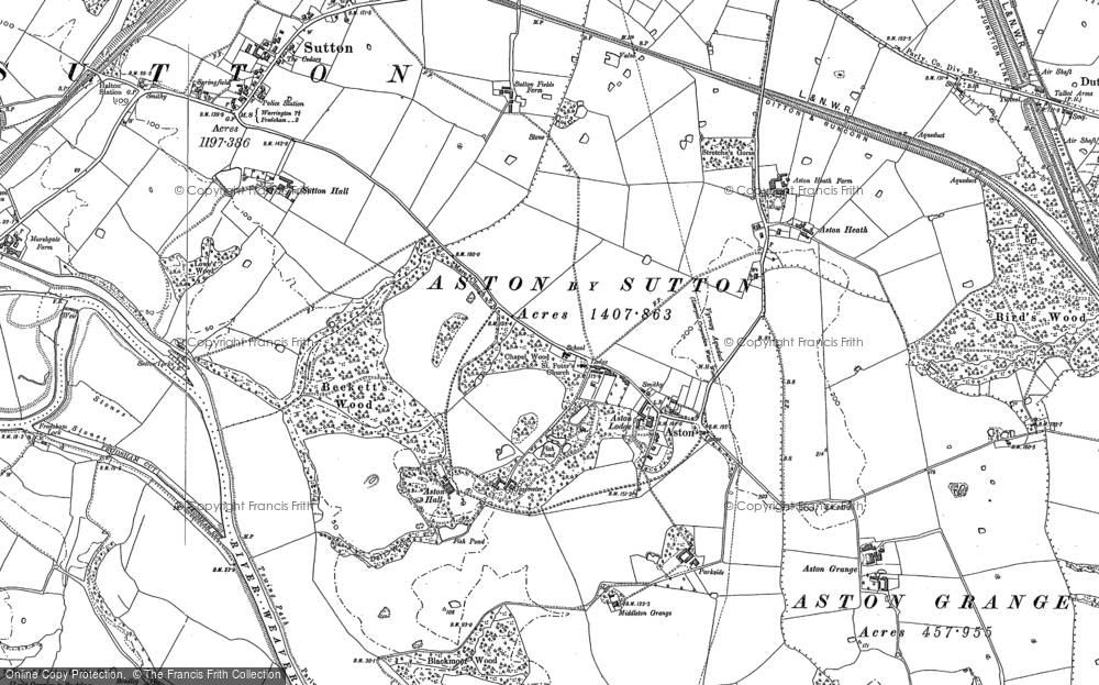 Old Map of Aston, 1897 in 1897