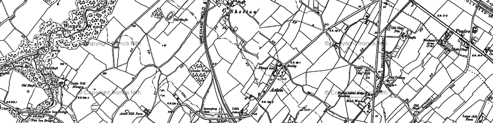Old map of Aston in 1898