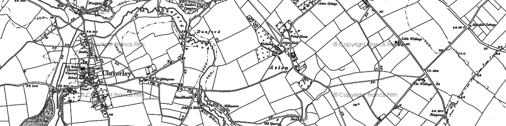 Old map of Aston in 1901