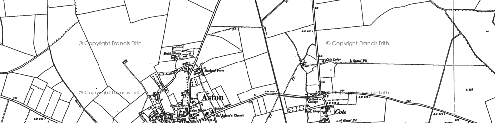 Old map of Aston in 1910