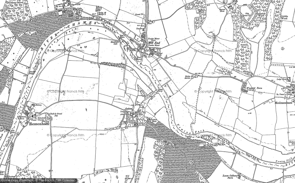 Old Map of Aston, 1910 in 1910