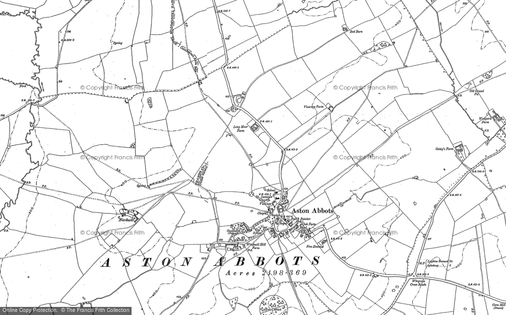 Old Map of Aston Abbotts, 1898 - 1923 in 1898