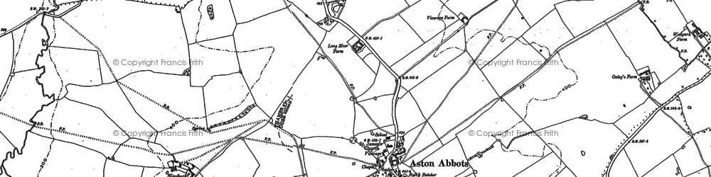 Old map of Aston Abbotts in 1898