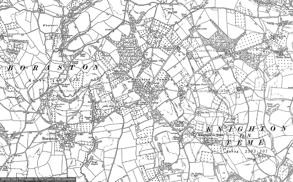 Old Map of Historic Map covering Aston Court in 1883