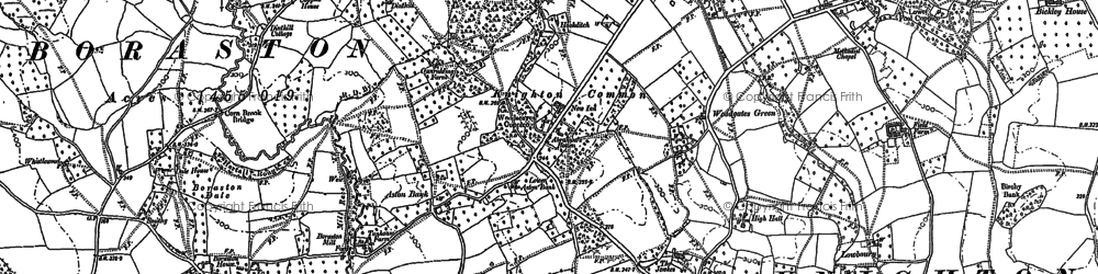 Old map of Aston Bank in 1883