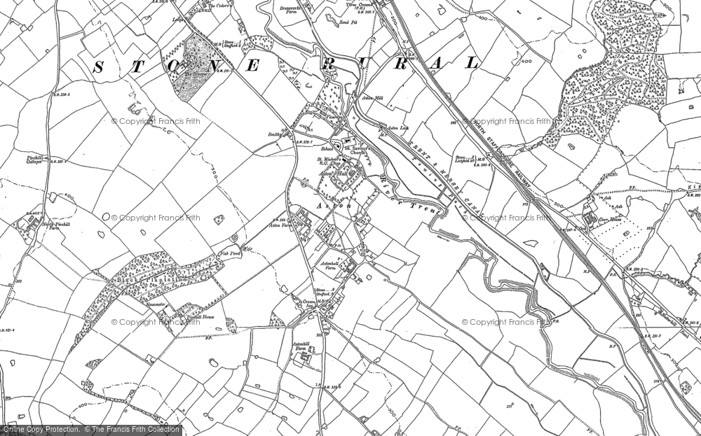 Old Map of Aston-By-Stone, 1879 - 1881 in 1879