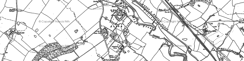 Old map of Aston-By-Stone in 1879