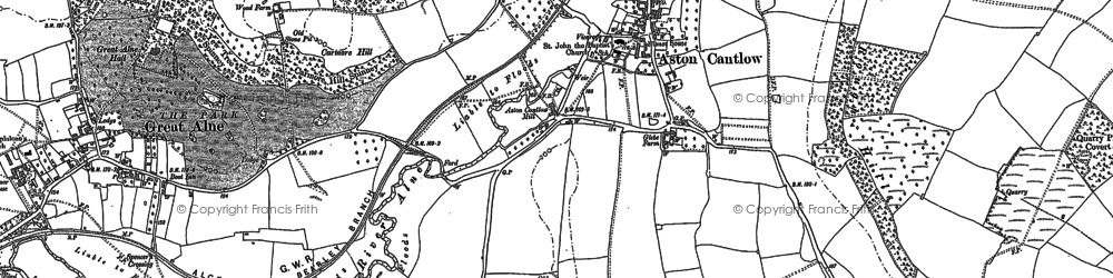 Old map of Aston Cantlow in 1885