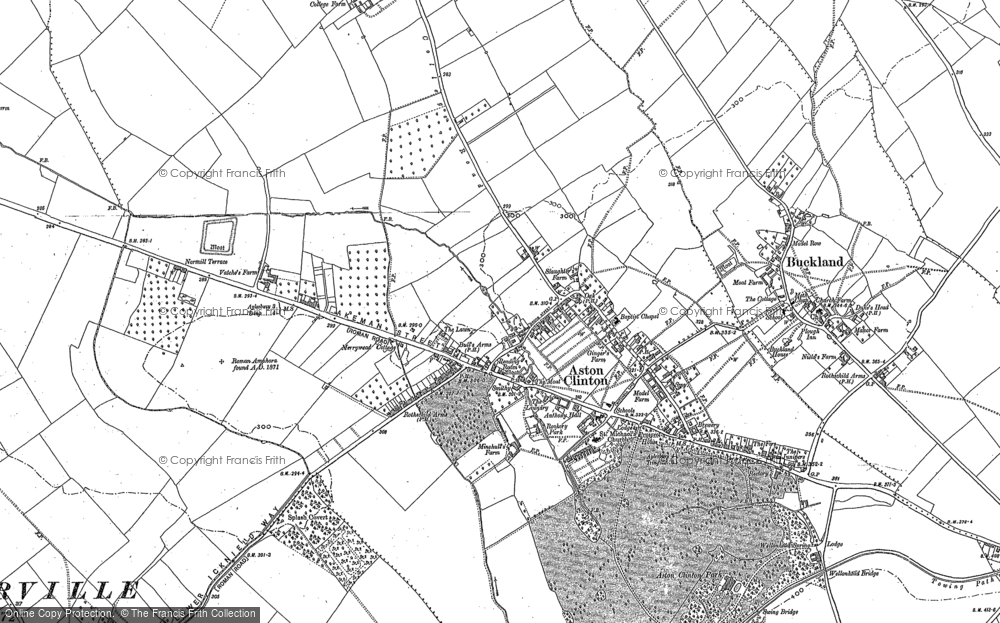 Old Map of Aston Clinton, 1898 in 1898