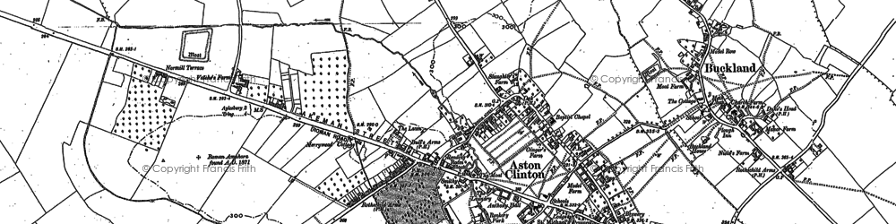 Old map of Aston Clinton in 1898
