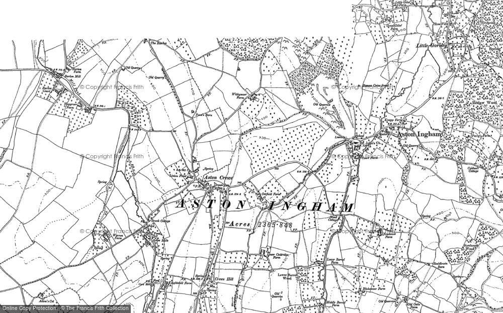 Old Map of Historic Map covering Aston Mills in 1903