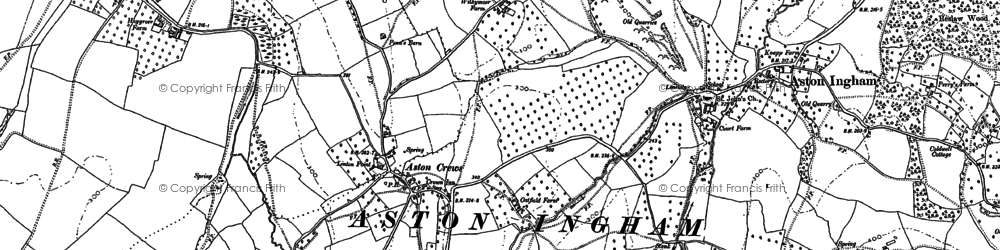 Old map of Aston Crews in 1903