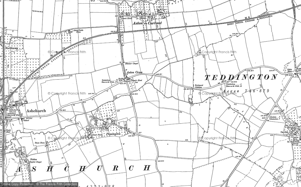 Old Map of Aston Cross, 1900 - 1901 in 1900