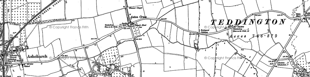 Old map of Aston Cross in 1900