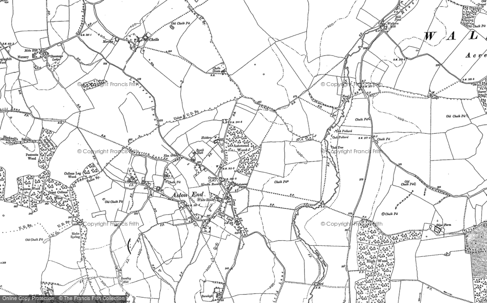 Old Map of Historic Map covering Bareleigh in 1896
