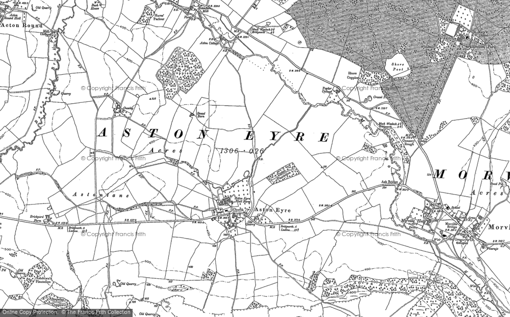 Old Map of Aston Eyre, 1882 in 1882