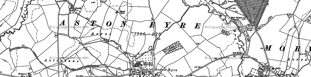 Old map of Aston Eyre in 1882